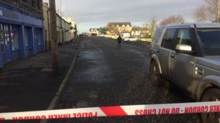 Pedestrian struck by a car in Crossmaglen