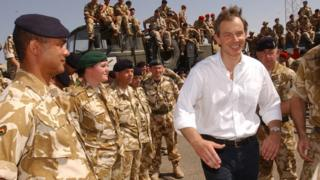 Tony Blair in Basra, May 2003