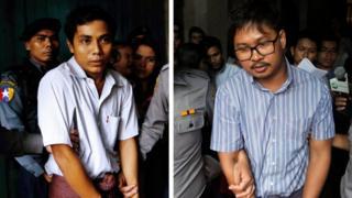 Kyaw Soe Oo (left) and Wa Lone