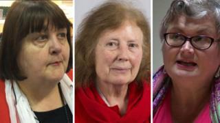 Debbie Wilcox, Julie Morgan and Carolyn Harris