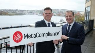 Robert O'Brien, MetaCompliance, and Jeremy Fitch from InvestNI