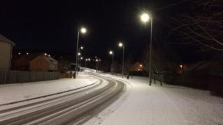 Snow in Inverness