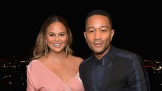 Chrissy Teigen and John Legend attend GQ and Dior Homme private dinner in celebration 2017