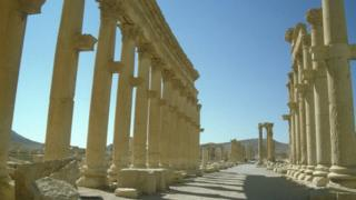 Palmyra's ruins in Syria