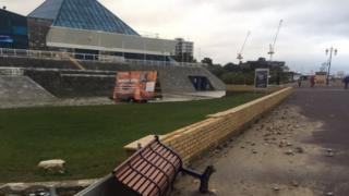 Portsmouth 39 S Storm Hit Swimming Pool Forced To Shut Bbc News