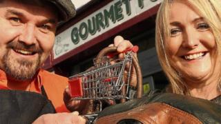 Malachy and Julie Canning of Gourmet Foods in Letterkenny.