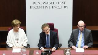 RHI Inquiry panel members Dame Una O'Brien , Sir Patrick Coghlin (Chairman) and Keith MacLean