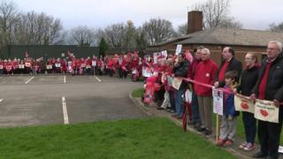 "Holsworthy ""red line"" protest"