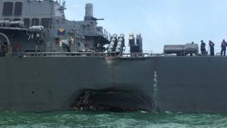 USS John S McCain after di collision