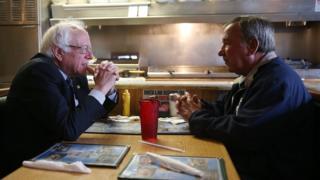 Bernie Sanders and Chuck Jones
