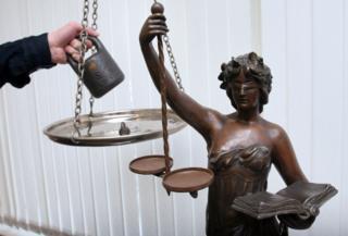 Богиня правосудия и весы
