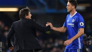 Nemanja Matic and Antonio Conte