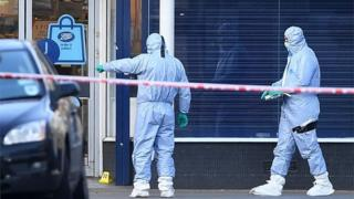 Forensic offers at scene