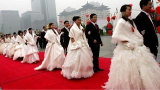 حفل زواج جماعي في الصين