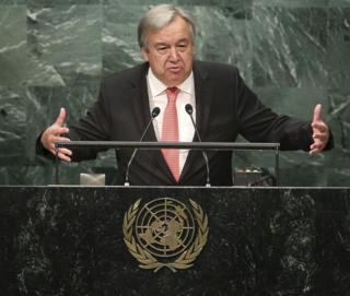 Guterres ya ce babban kalubalensa shi ne kawo karshen rikicin Syria