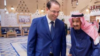 رئيس الحكومة التونسي يوسف الشاهد في زيارة إلى السعودية.