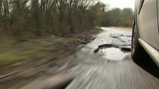 Pothole road repair
