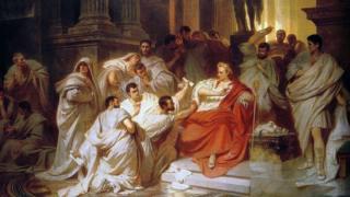 El momento de la traición, interpretado por el artista del siglo XIX Carl Theodor von Piloty.
