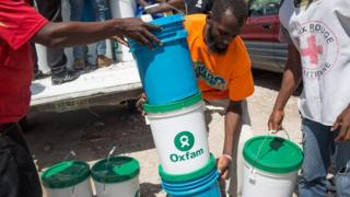 Aid provided by Oxfam to the hurricane victims in Haiti is not going as far thanks to the falling pound