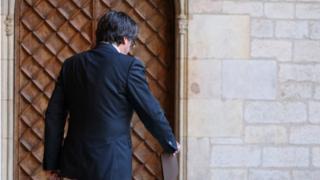 El presidente de Cataluña, Carles Puigdemont.