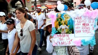 Акция против однополых браков в Мексике