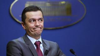 File pic of Romanian Prime Minister Sorin Grindeanu