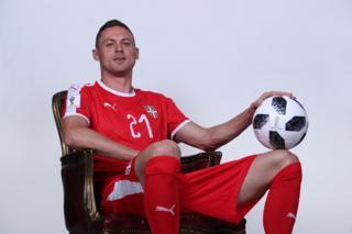 Nemanja Matic of Serbia