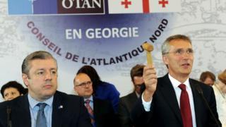 Генсек НАТО и грузинский премьер