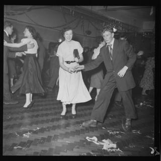 Two people doing the jive