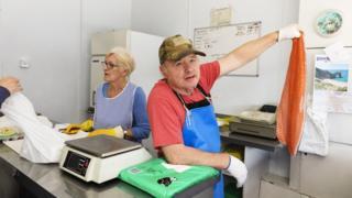 G W Glenton's fish shop by Martin Parr