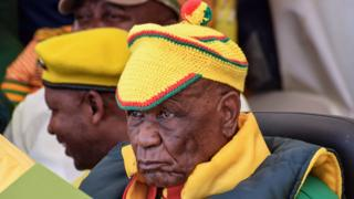 in_pictures Lesotho's Prime Minister Thomas Thabane, at a political rally in Maseru, Lesotho - Sunday 8 March 2020