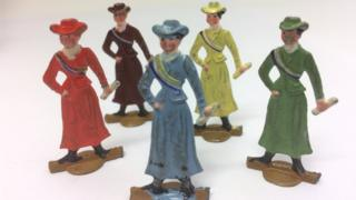 Suffragette board game pieces