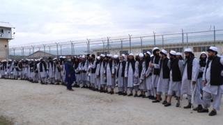 100 Taliban prisoners released from the Bagram prison in line with the peace deal last month