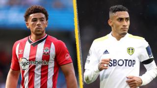 Che Adams and Raphinha split picture