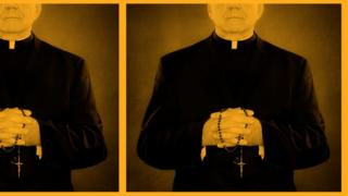 Graphic with priests