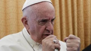 教宗方濟各在從開羅返回羅馬的飛機上向記者們講話(29/4/2017)