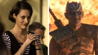 Phoebe Waller-Bridge in Fleabag and Game of Thrones' Night King