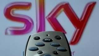 Sky logo and remote control