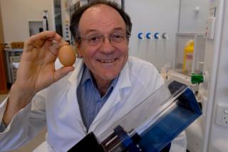 Prof Raston and his Vortex Fluidic Device, which successfully unboiled egg whites