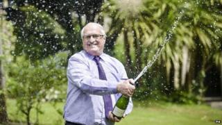Lottery winner Peter Congdon