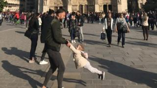 Brooke Windsor's photo in front of the Notre Dame Cathedral