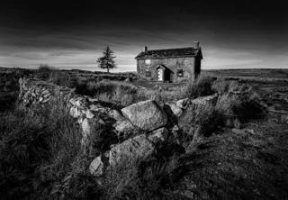 An old farm house on a moor