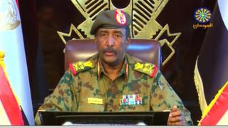 Sudan military council leader Lt-Gen Abdel Fattah Abdelrahman Burhan pledged to restructure the country.