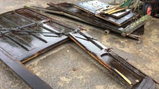Damaged Harnham Gates