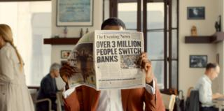 Man reads newspaper claiming over 3m people have switched account