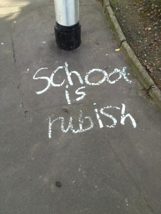 Chalk writing