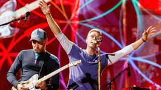 Coldplay на концерте