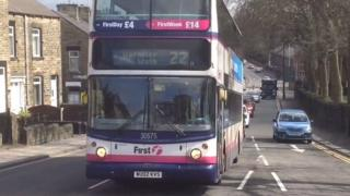 Bus on Doncaster Road, Barnsley