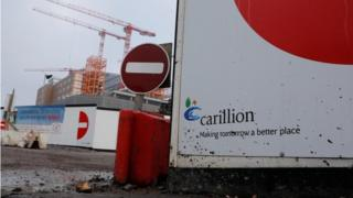 Carillion sign on building site