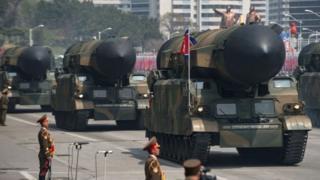 Misiles norcoreanos.